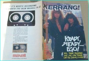KERRANG - No.186 Yngwie Malmsteen Joe Lynn Turner, Rush, Poison, Bathory 4 pages, Voi Vod, Pantera, Hurricane