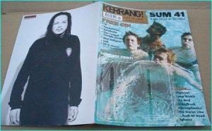 KERRANG - No.893 SUM 41, Stereophonics, ADEMA, SLIPKNOT, MIOCENE, Tool, System of a Down, Pantera, Limp Bizkit