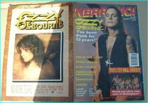 KERRANG - No.362, 1991. OZZY, CANCER, CONFESSOR, COC, KISS OF THE GYPSY, BON JOVI, ALICE COOPER, TUFF