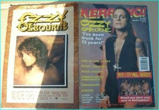 KERRANG - No.362, 1991. OZZY, CANCER, CONFESSOR, COC, KISS OF THE GYPSY, BON JOVI, ALICE COOPER, TUFF