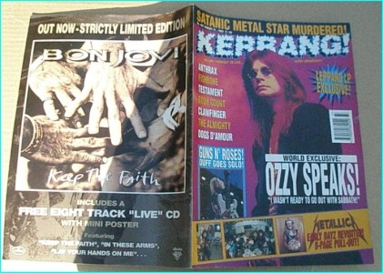 KERRANG - No.457 OZZY, DEF LEPPARD, CLAWFINGER, FISHBONE, DOGS DAMOUR, ANTHRAX, Fishbone, The Almighty, Testament, Body Count