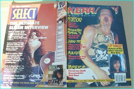 KERRANG - No.323 Scorpions, Donington 1991, Judas Priest, Slaughter, Winger, Sodom, ZZ Top, Love Hate, Sepultura, Black Crows