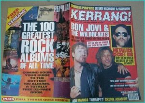 KERRANG - No.579 Wildhearts Bon Jovi SIGNED BY GINGER from Wildhearts, Metallica Lemmy Gig tribute, Blind Melon, White Zombie