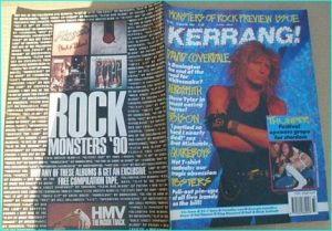 KERRANG - No.303 WHITESNAKE, Poison, Slayer, Poison, Slayer, Whitesnake, Thunder, Ratt, Black Sabbath, Vio-lence, Quireboys