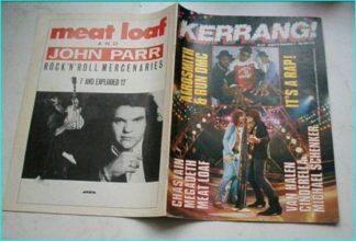 KERRANG NO. 127 AUG 1986 (AEROSMITH / RUN DMC, Aerosmith, Q5, Savatage, Cinderella, MSG, Megadeth, Bon Jovi, Van Halen