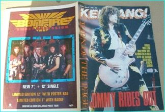 KERRANG No.193 [Jimmy Page cover, Exodus, White Lion, Kingpin, Samson, US Masters of Rock, Steve Ray Vaughan, Death Angel