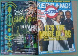 KERRANG - No.581 Jan.1996 Wildhearts, Terrorvision, Skunk Anansie, Almighty, Gun, Ash, Napalm Death, Skin, Rancid, Offspring,