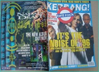 KERRANG - No.581 Jan.1996 Wildhearts, Terrorvision, Skunk Anansie, Almighty, Gun, Ash, Napalm Death, Skin, Rancid, Offspring,