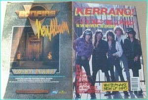 KERRANG - No.260 ( Quireboys Cover, FM, Bonham, Warrant, Bad Brains, Whitesnake, Malmsteen, Jeff Beck, Law and Order