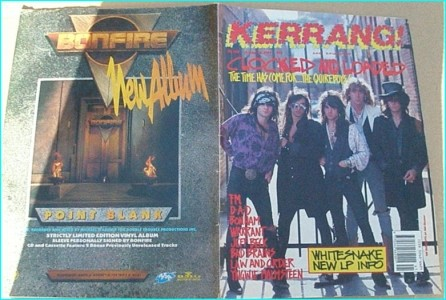 KERRANG - No.260 ( Quireboys Cover, FM, Bonham, Warrant, Bad Brains, Whitesnake, Malmsteen, Jeff Beck, Law and Order