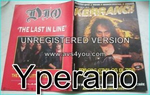 KERRANG No. 71 (Dio Cover, Gary Moore, Motorhead, Motley Crue, Kiss, Rush, Queen, Free, Status Quo, Hanoi Rocks
