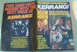 KERRANG - No.142 MAR 1987 , Anthrax cover, Iron Maiden, Europe, Meat Loaf, Megadeth, Deep Purple, Quiet Riot, Cinderella