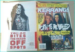 KERRANG - No.266 ( Cult Cover, Rush, Joe Satriani, Great White, Skid Row, Whitesnake, Rush, Guns N Roses, Saraya Poster