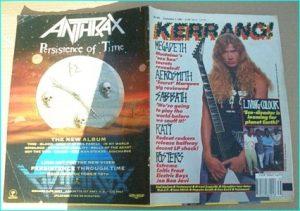 "KERRANG - No.305 MEGADETH, Black Sabbath, Megadeth, WASP, Ratt, Aerosmith, Lars Ulrich "" NWOBHM"