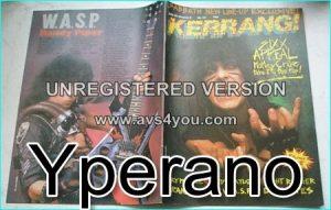 KERRANG No. 73 1984 Motley Crue Cover, Gary Moore, Night Ranger, Grand Slam (Thin Lizzy), Dio, Black Sabbath, Wasp, Yes, WASP
