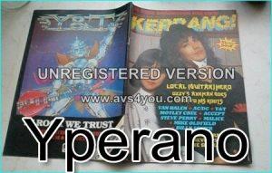 KERRANG No. 74 Aug. 1984 Jake E.Lee Ozzy Osbourne, Van Halen, AC/DC, Motley Crue, Accept, Fastway, Van Halen, Kiss, Steve Perry