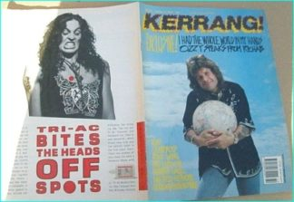 KERRANG - No.261 [Ozzy Osbourne cover, Kiss, Quireboys, Roxx Gang, Morbid Angel, Dan Reed, Metallica, Faith No More, Bad English