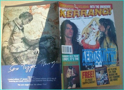 KERRANG - No.470 AEROSMITH, Genitorturers, Soundgarden, Iron Maiden, Dream Theater, bonus mag