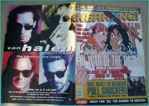 KERRANG - No.528 GUNS N ROSES, MOIST, MACHINE HEAD, ZZ TOP, COF, VAN HALEN, SICK OF IT ALL, WHITE ZOMBIE, Kiss