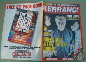 KERRANG - No.580 GREEN DAY, DEF LEPPARD, THIN LIZZY, WHITE ZOMBIE, RFTC, SEPULTURA, CIV, SLAYER, Type o Negative