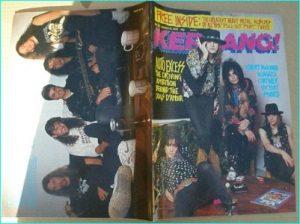 KERRANG - No.222 Dogs DAmour Cover, Niagara, Coroner, Victory, Sword, Warrant, Prong, Metallica, Trust, Blue Oyster Cult