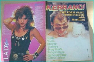 KERRANG NO. 138 JAN.1987 (Marillion, Stan Bush, Victory, Celtic Frost, Kreator, Coroner, Queensryche, Shy, Tesla
