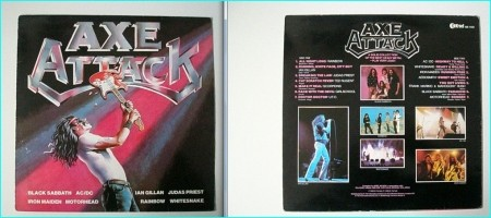 AXE ATTACK very Rare 1980 compilation LP. Has a completely unreleased elsewhere IRON MAIDEN demo song version