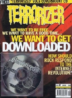 TERRORIZER 82. SEP 2000. ELECTRIC WIZARD, NIGHTWISH, article about downloading etc. Mint condition includes CD