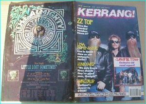 KERRANG - No.346 JUNE 1991 ZZ Top cover, Junkyard, Van Halen, Love / Hate, Slaughter, Bulletboys, Clash of the Titans,