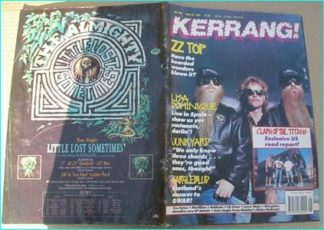 KERRANG - No.346 JUNE 1991 ZZ Top cover, Junkyard, Van Halen, Love / Hate, Slaughter, Bulletboys, Clash of the Titans,