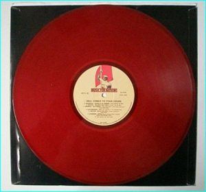 HELL COMES TO YOUR HOUSE compilation LP (Hard Rock, Metal) MFN 30, Red vinyl, no ps, SIGNED by Exciter