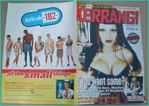 KERRANG - No.793 The Sex issue Nashville Py Toilet Boys, Methods of Mayhem, Blink 182, Slipknot, Foo Fighters, Metallica