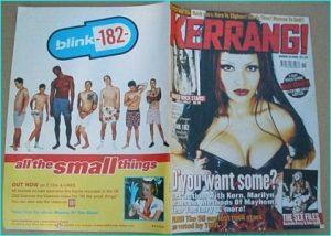 KERRANG - No.793 The Sex issue Nashville Py Toilet Boys, Methods of Mayhem, Blink 182, Slipknot, Foo Fighters, Metallica