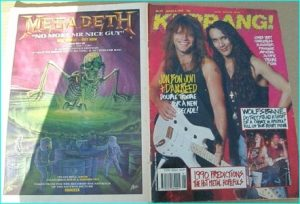 KERRANG No 271 (Bon Jovi Dan reed cover, Sepultura, Fiona, Candlemass, Manowar, Slayghter, Wolfsbane, 24-7 Spyz, Trouble