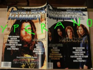 Metal Hammer 197, 5/2001 May Megadeth on cover, Six Feet Under on cover, Opeth, King Diamond, Helloween, Stratovarius, Sepultura
