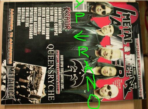 Metal Hammer 222, 6/2003 June. Queensryche on cover, Kreator on cover, Metallica, Fates Warning, Derek Sherinian, Sonata Arctica