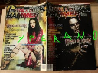 Metal Hammer 213, 9/2002 Sept. Cradle of Filth on cover, Lacuna Coil on cover, Motorhead, Iron Maiden, Queensryche, Joe Satriani