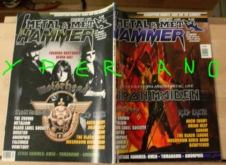 Metal Hammer 208, 4/2002 Apr. Iron Maiden on cover, Motorhead on cover, Gamma Ray, Scorpions, Kreator, Sodom, Iced Earth, Omen