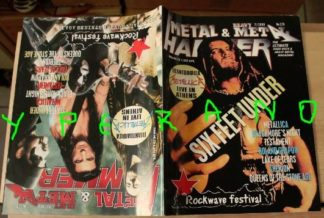 Metal Hammer 175, 7/99 July 1999 Manowar, Mercyful Fate, Sodom, Immortal on cover Six Feet Under on cover, HUGE Metallica poster