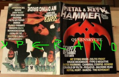 Metal Hammer 179, 11/99 Nov 1999. Queensryche on cover, My Dying Bride on cover HUGE POSTER Ozzy Osbourne HUGE POSTER Iced Earth