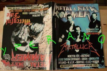 Metal Hammer 174, 6/99 June 1999. Metallica on cover, Mercyful Fate on cover, W.A.S.P., Dimmu Borgir,Sodom, S.O.D., Dark Funeral