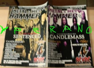 Metal Hammer 245, May 5/2005 Candlemass on cover, Sentenced on cover, AC/DC, Nile, Overkill, Angra, Sepultura, Gotthard,