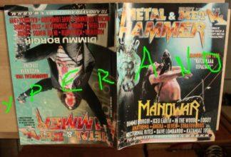 Metal Hammer 170, 2/99 Feb 1999. Manowar on cover, Dimmu Borgir on cover, N.W.O.B.H.M. special, Iced Earth, Anathema, Edguy