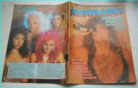 KERRANG - No.128 .1986 Bon Jovi cover, Warlock, It Bites, Scorpions, Motorhead, Def Leppard, Vixen, Ozzy, Monsters of Rock