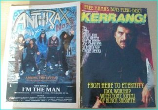 KERRANG No.163 Black Sabbath, Shogun, Zoetrope, Gang Green, Joe Satriani, Silent Rage, Death Angel, Zeno, Yes, Marillion