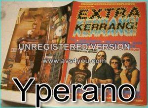 KERRANG - Extra Kerrang No.2 Motorhead (cover), Elp, Deep Purple, Def Leppard, Ratt, Whitesnake, Venom