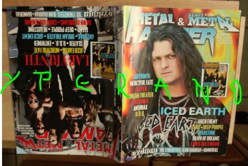 Metal Hammer 163, 8/98 Aug 1998. Iced Earth on cover, Labyrinth on cover, Slayer, Deep Purple, Anthrax, Arch Enemy, Dynamo Fest