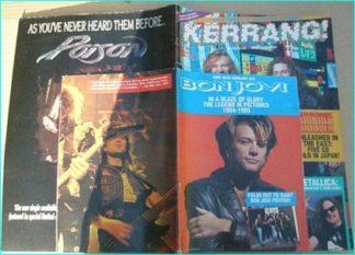 KERRANG - No.429 THUNDER, KYUSS, POISON, SACRED REICH, Metallica 2 page Jason Newsted tour diary, Bon Jovi in pictures