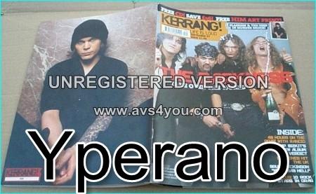 "KERRANG 974 Darkness Sept. 27th 2003, BRUCE DICKINSON (Iron Maiden) ""my kebab hell"", Rancid, Limb Bizkit, Andrew W.K"