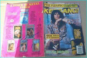 KERRANG - No.278 , 1990 AEROSMITH pin-up, Iron Maiden, Quireboys flexi, Overkill, Love Hate, Gang Green, Kai Hansen